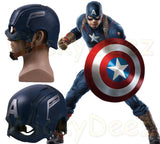 Captain America Helmet Avengers Age of Ultron Infinity War Steve Rogers Cosplay Helmet Mask-Marvel Comics Cosplay-WickyDeez