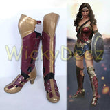 Custom Size Wonder Woman Justice League Complete Cosplay Costume + Boots & Lasso-DC Comics Cosplay-WickyDeez