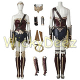 Custom Size Wonder Woman Justice League Cosplay Costume with Boots & Lasso-DC Comics Cosplay-WickyDeez