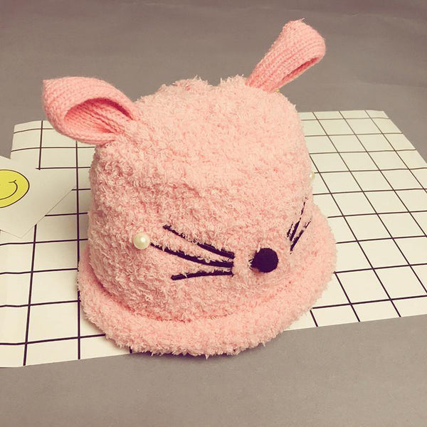 Cute Cat Design Winter Wool Hat Cap Baby Boys/Girls Fashion Warming Plush Child Hat-Children's Apparel-WickyDeez
