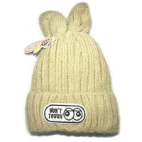 Cute Small Rabbit Children's Warm Wool Knit Hat Cap for Children-Children's Apparel-WickyDeez