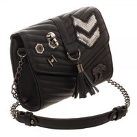 Dark Side Quilted Crossbody Bag with Tassel-MXED-WickyDeez