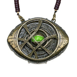 Dr Strange Ring & Necklace Eye of Agamotto Glow in the Dark Pendant Cosplay Prop-Marvel Comics Cosplay-WickyDeez
