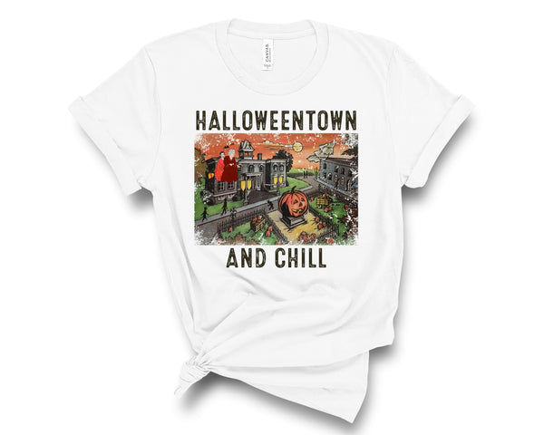 Halloweentown and Chill Tee - WickyDeez