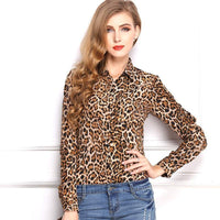 European Style Long Sleeve Temperament Chiffon Blouse Shirt - Up to 11 Styles to Choose From-Women's Tops-WickyDeez