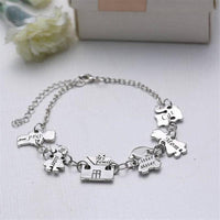 Exquisite Creative Silver Alloy Women's Charm Bracelet-Women's Accessories-WickyDeez