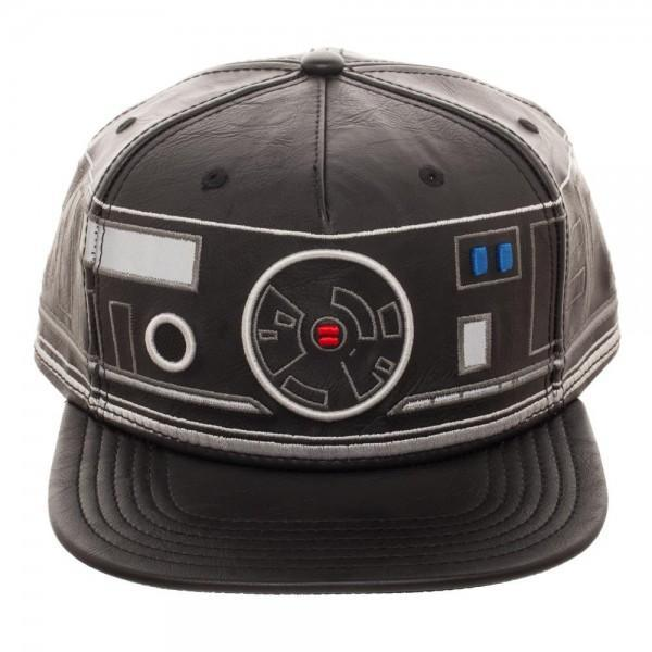 First Order BB Unit Big Face Embroidered Faux Leather Snapback-MXED-WickyDeez