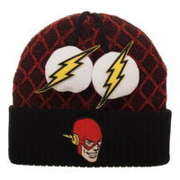Flash Lightning Bolt Pom Beanie-MXED-WickyDeez