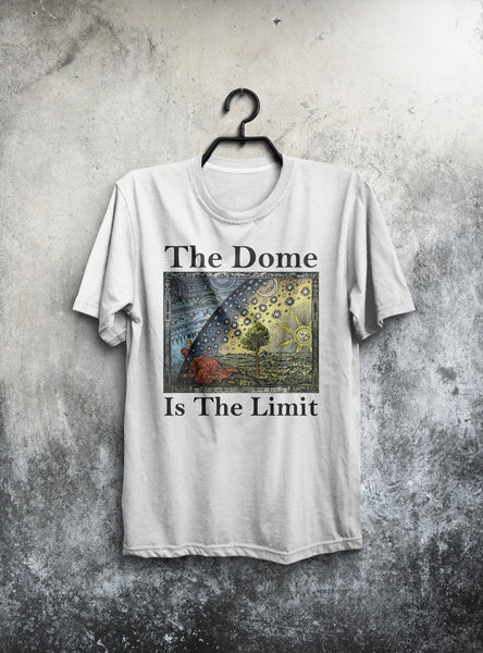 Flat Earth Shirt | Flat Earth Map | The Dome | Tees Shirt | Gildan Mens T-Shirt-Men's Tops-WickyDeez