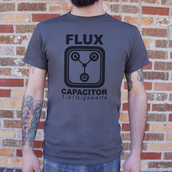 Flux Capacitor 1.21 Gigawatts T-Shirt (Mens)-Mens T-Shirt-WickyDeez