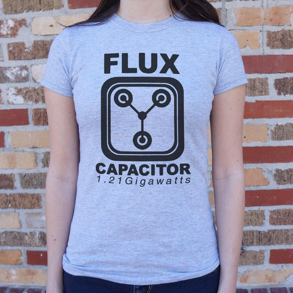 Flux Capacitor 1.21 Gigawatts T-Shirt (Ladies)-Ladies T-Shirt-WickyDeez