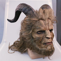 Handmade Beauty and the Beast Mask Prince Dan Stevens Beast Mask Cosplay-Disney Cosplay-WickyDeez