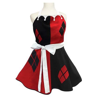 Harley Quinn Fashion Red Apron-DC Comics Cosplay-WickyDeez