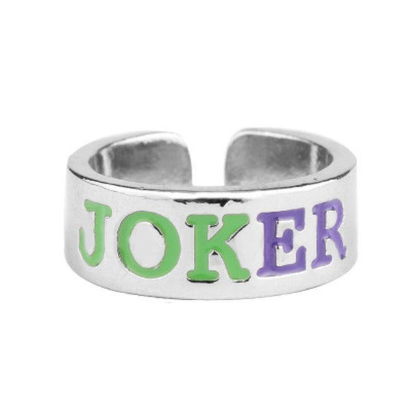 Harley Quinn Joker Adjustable Lovers Ring-DC Comics Cosplay-WickyDeez