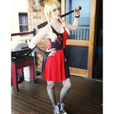 HARLEY QUINN REVERSIBLE SKATER DRESS-DC Comics Cosplay-WickyDeez