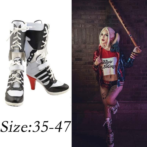 77c968567169 Harley Quinn Suicide Squad Shoes High Heel Boots for Cosplay ...