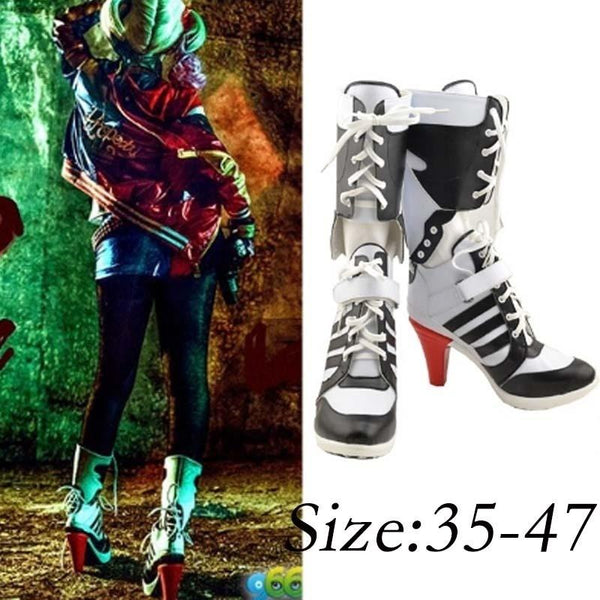 74c5a5d73d4941 Harley Quinn Suicide Squad Shoes High Heel Boots for Cosplay ...