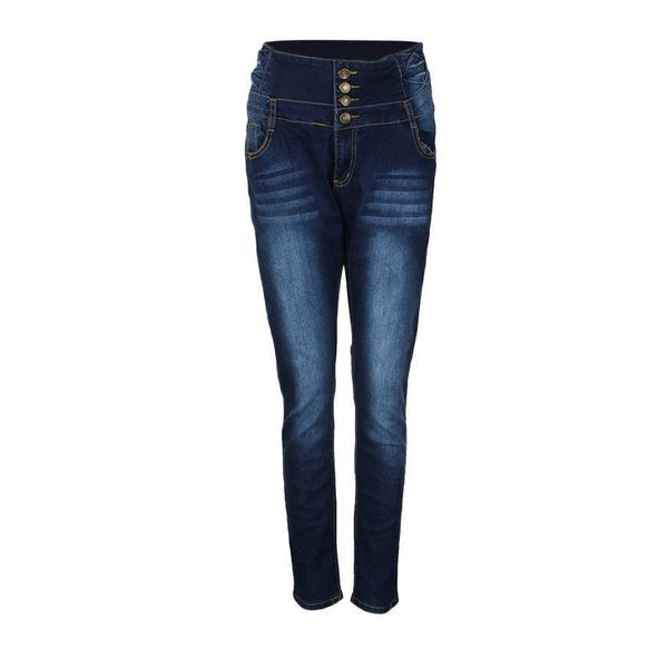HOT Women's High Waisted Slim Fit Elasticity Pencil Pants Skinny Jeans-Women's Pants-WickyDeez
