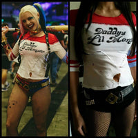 Inspired Harley Quinn Daddy's Lil Monster Suicide Squad Replica Shirt-DC Comics Cosplay-WickyDeez