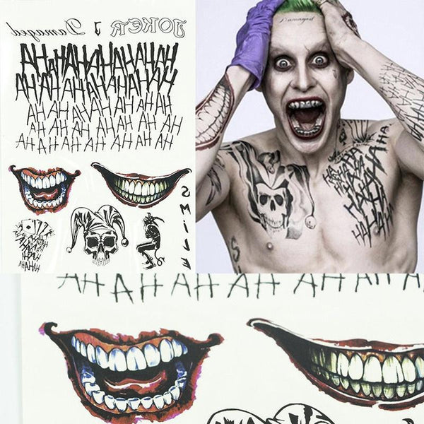 Joker Batman Temporary Tattoos for Cosplay Costume Fancy Dress Halloween-DC Comics Cosplay-WickyDeez