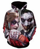Joker & Harley Quinn Bloody Effects 3D Printed Men/Women's High Quality Hoodies/Hooded Pullover Sweatshirt-DC Comics Cosplay-WickyDeez
