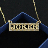 Joker Letter Pendant Necklace Suicide Squad Cosplay Jewelry-DC Comics Cosplay-WickyDeez