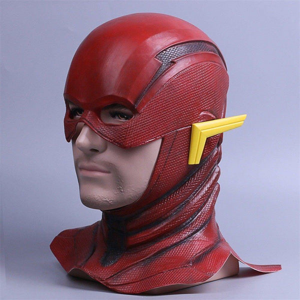 Justice League The Flash Cosplay Mask Full Face Barry Allen Flash Helmet Mask-DC Comics Cosplay-WickyDeez