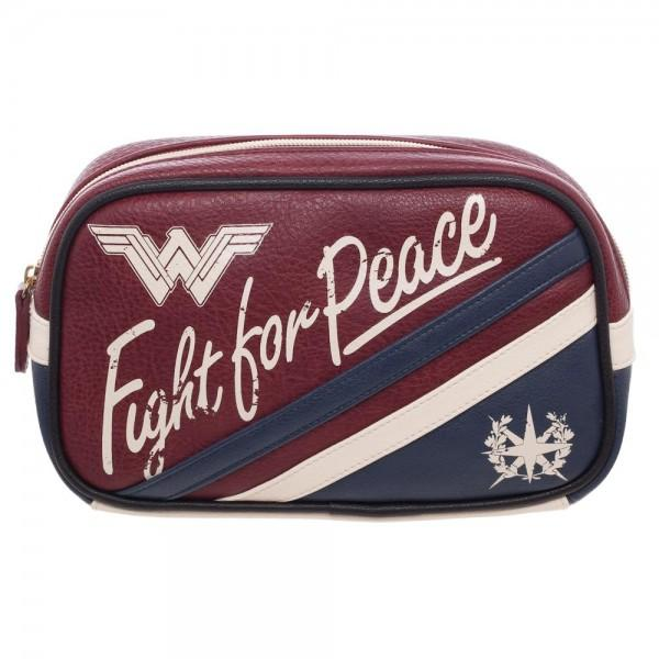 Wonder Woman Fght for Peace Makeup Bag Aviator Travel Bag-Wonder Woman-WickyDeez
