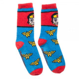 Wonder Woman Amazon Juniors Fuzzy Socks-Wonder Woman-WickyDeez