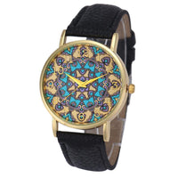 Luxury Relogio Women's Faux Leather Analog Quartz Wristwatch Ethnic Tribal Waterproof Watch (In 5 Colors)-Women's Accessories-WickyDeez