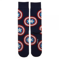 Marvel Captain America Large All Over Print Crew Socks-Marvel Comics Cosplay-WickyDeez