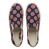 Marvel Captain America Unisex Dek Shoes-Marvel Comics Cosplay-WickyDeez