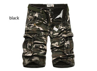 Men Shorts Camouflage Cargo Pants Large Size Multi-Pocket Shorts Homme (Belt not Included)-Men's Pants-WickyDeez