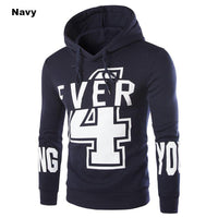 Men's Casual Slim Fit Print Design Long-sleeved Hooded Sportswear Sweatshirt Coat - 3 Colors-Men's Tops-WickyDeez