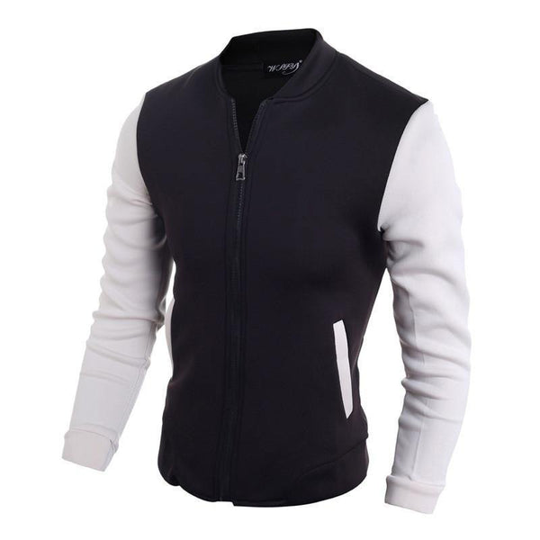 Men's Classic Patchwork Cotton Jacket Coat (2 Colors to Choose From)-Men's Jackets-WickyDeez