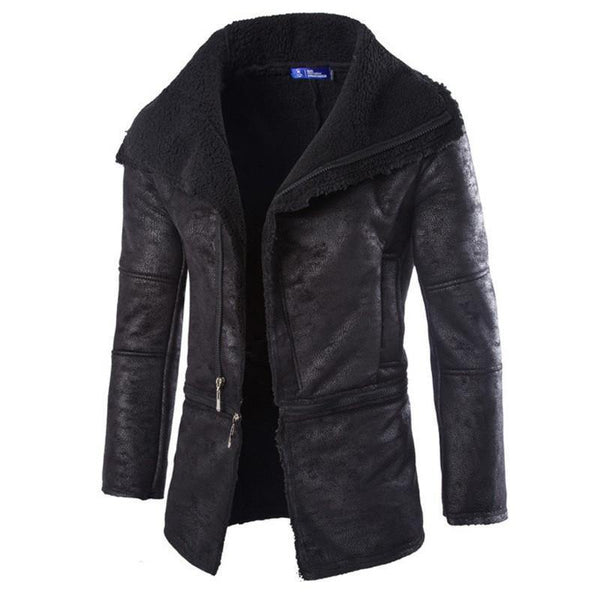 Men's Leather Jacket Brand Detachable PU Slim Solid Overwear-Men's Jackets-WickyDeez