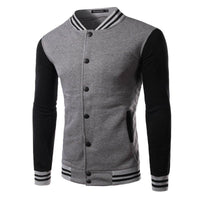 Men's Leisure Fashion Color Fleece Slim Fit Single-breasted Jacket Coat - 6 Colors-Men's Jackets-WickyDeez