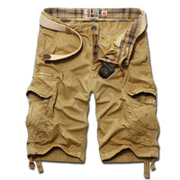 Mens Shorts Multi-pocket Cargo Casual Cotton Short Masculino Pants (Belt Not Included)-Men's Pants-WickyDeez