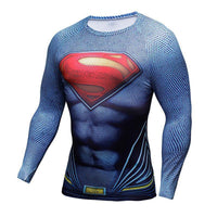 Superhero 3D Printed Slim Fit Long Sleeve Cosplay T-shirt Tops-DC Comics Cosplay-WickyDeez