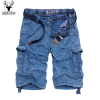 Men's Summer Fashion Knee-Length Multi-Pocket Cargo Printed Loose Shorts Pants (3 Colors)-Men's Pants-WickyDeez