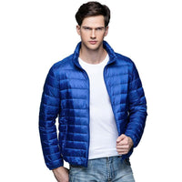Men's Ultra Light Winter Warm Jacket Slim Fitting Design - Sizes: S,M,L,XL,XXL,XXXL-Men's Jackets-WickyDeez
