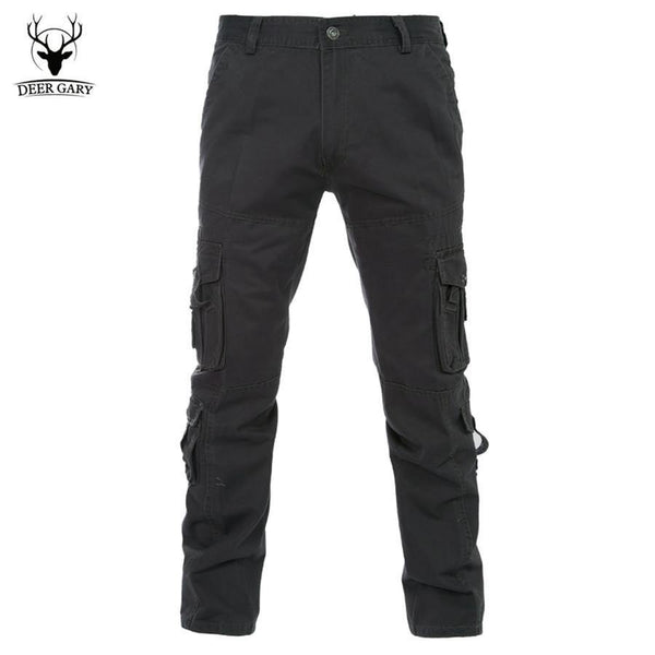 Military Clothing Men's Casual Cargo Pants Army Style Solid Leisure Trousers Big Yards-Men's Pants-WickyDeez