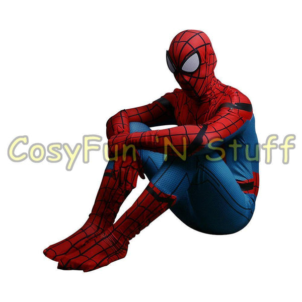 ... New 2017 Spider-Man Homecoming Cosplay Tom Holland Spiderman Adult 3D Costume-Marvel Comics ...  sc 1 st  WickyDeez & New 2017 Spider-Man Homecoming Cosplay Tom Holland Spiderman Adult ...