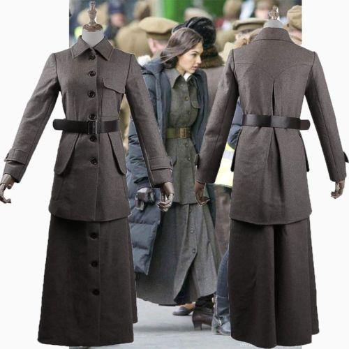 NEW 2017 Wonder Woman Diana Prince British Style Woolen Jacket Costume Full Set-DC Comics Cosplay-WickyDeez