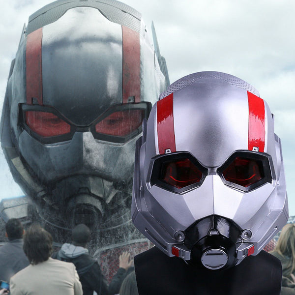 86b830d4116 New Ant-Man Helmet Cosplay 2018 Movie Antman and The Wasp Scott PVC Mask