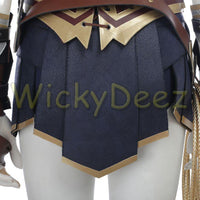 Inspired Wonder Woman Justice League Cosplay Costume Boot Covers & Lasso (Alternate Version)-DC Comics Cosplay-WickyDeez