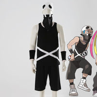 Pokemon Sun and Moon Cosplay Team Skull Grunt Costome T-shirt Shorts Wrist Mask-Anime Cosplay-WickyDeez
