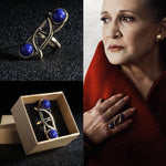 Princess Leia Ring 2017 Star Wars The Last Jedi Blue Ring Cosplay Prop-Star Wars-WickyDeez