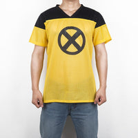 Deadpool 2 Movie Yellow and Black X-Men T-Shirt Cosplay Costume Tee Shirt-Marvel Comics Cosplay-WickyDeez