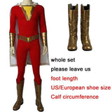 2019 Shazam Movie Custom Made Complete Shazam Cosplay Costume | With or Without Boots | or Cape Only - Free Shipping-DC Comics Cosplay-Whole set-S-Male-WickyDeez